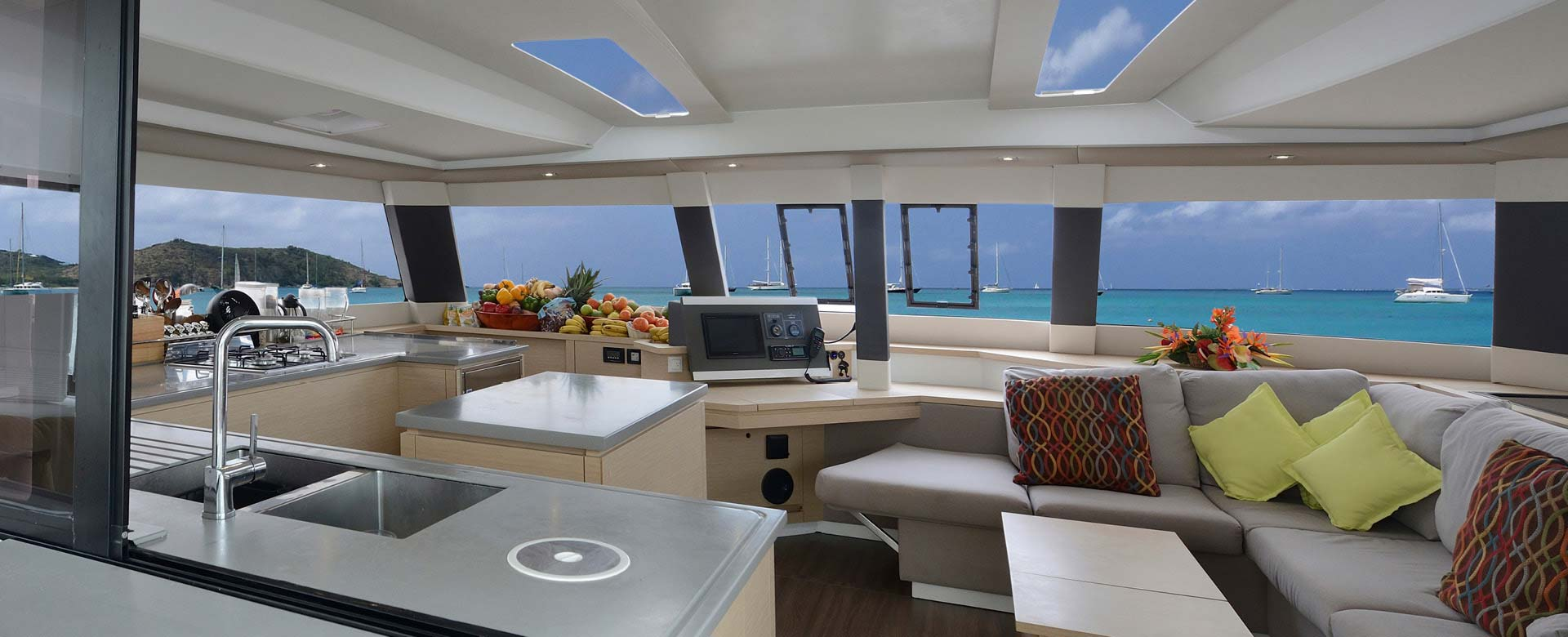 inside a luxury yacht