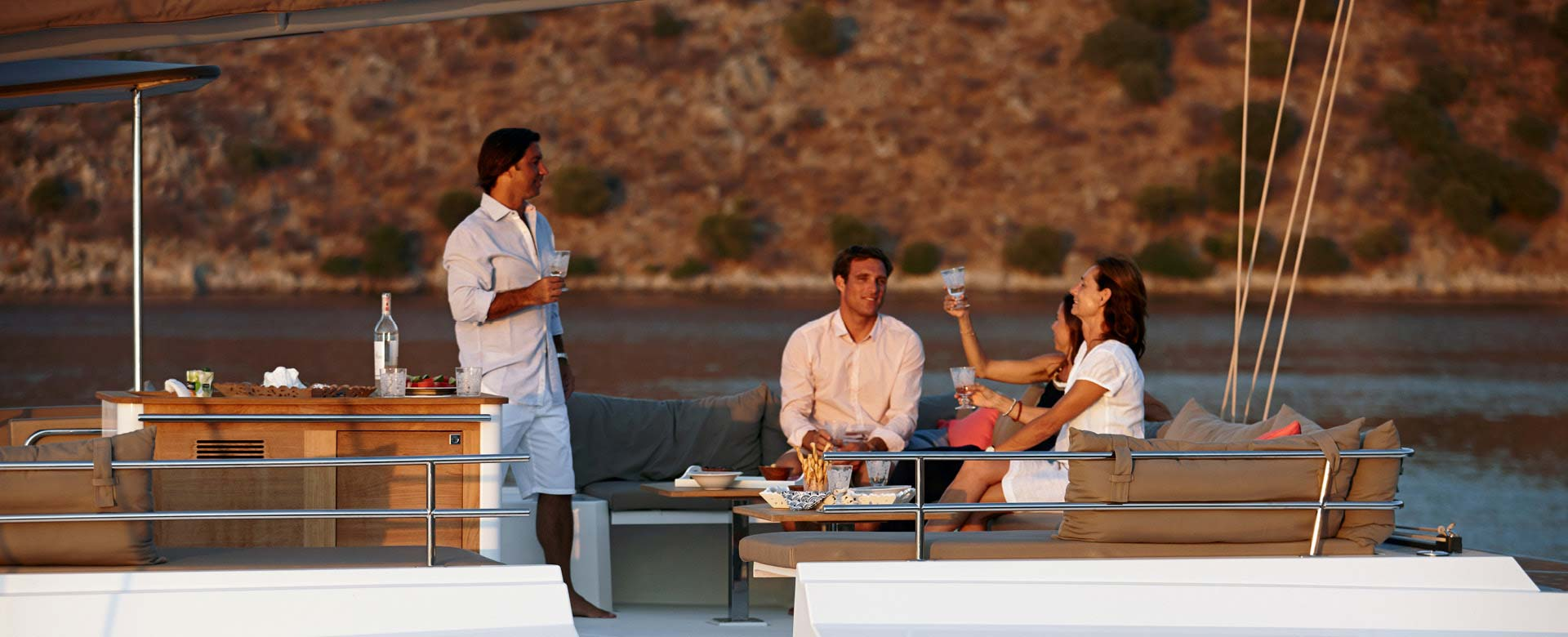 People enjoying their luxury yacht ownership
